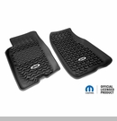 Frnt Floor Liners with Jeep Logo Jeep Grand Cherokee 1993-1998 Blk