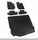 Floor Liner Kit Wrangler JK 2 Dr 2011-2017 Black Front, Rear and Cargo