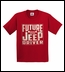Future Jeep Driver Youth T-Shirt in Red