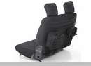 G.E.A.R. Custom Fit Rear Seat Cover Wrangler JK 2D 2007-2017 Black
