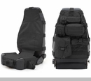 G.E.A.R. Front Seat Cover CJ & Wranglers 1976-2017 Blk  by Smittybilt