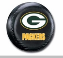 Green Bay Black Vinyl Packers NFL Tire Cover