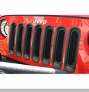 Grille Insert for Jeep Wrangler JK 2007-2017 in Black by Rugged Ridge