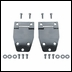 Hard Top Liftgate Hinge Pair, 1976-1986 (CJ), Stainless