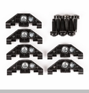 Hardtop Bolts & Nuts with Clip Wrangler 2007-2017 in Black by Rugged Ridge