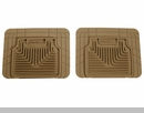 Heavy Duty Floor Mats for Jeep Wrangler JK 2007-2009 in Tan - Rear