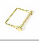 "Hitch Pin w/Square Hardwire Lock, 2.5"" x 5/16"" Gold by Rugged Ridge"