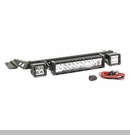 "Hood LED Light Bar Kit Wrangler 1997-2006 Txtrd Blk 2x3""/13.5"" Lights"