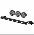 Hood Light Bar with 3 Round LED Kit Wrangler JK 2007-2017 Black