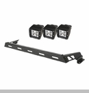 Hood Bar with 3 Square Light LED Wrangler JK 2007-2017 Textured Black