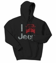 """I Jeep"" Hooded Sweatshirt, Black"