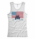 """Jeep """"American Flag / Live without Limits"""" Ladies+Juniors Tank Top"""