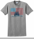 """Jeep """"American Flag / Live without Limits"""" Men's Grey T-Shirt"""