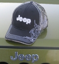 Jeep Black Embroidered Zigzag Hat