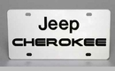 Jeep Cherokee License Plate, Stainless Steel