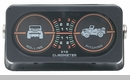 Jeep Clinometer with 2 Gauges, Jeep Graphic
