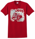 Jeep Cracked Crawl Men's T-Shirt in Red
