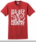 Jeep Crossed Flags Men's T-Shirt in Red