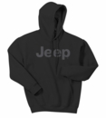 Jeep Dark Gray Original Logo Hooded Sweatshirt