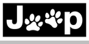 Jeep Dog Paw Logo Decal Small