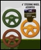 Jeep Dog Toy - Rubber Steering Wheel (assorted colors)