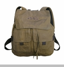 Jeep Embroidered Canvas Backpack, Camel