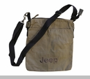 Jeep Embroidered Canvas Purse, Camel
