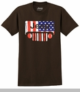 """Closeout- XL Only, Jeep """"Flag Grille"""" Men's T-shirt, Brown"""