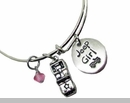 Jeep Girl Bangle Bracelet with Jeep Charm