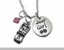 Jeep Girl Necklace with Jeep Charm
