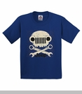 Jeep Grill Skull Youth T-Shirt in Royal Blue