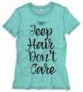 Jeep Hair Don't Care Black Design Junior's T-Shirt
