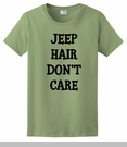 Jeep Hair Don't Care Black Design Women's T-Shirt