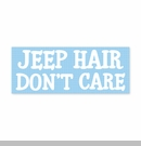 Jeep Hair Don't Care Decal