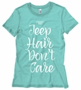 Jeep Hair Don't Care White Design Junior's T-Shirt