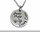 Jeep Hair Don't Care Necklace