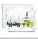 Jeep Holiday Card Be Merry & Be Bright Willys Print, Boxed Set of 10
