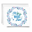 Jeep Holiday Card Oh What Fun Wreath Print, Boxed Set of 10