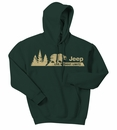 Jeep Hooded Sweatshirt - Live without Limits - Forest Green