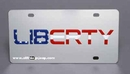 Jeep Liberty License Plate, Stainless Steel