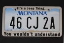 Jeep License Plate Frame: It's a Jeep Thing You Wouldn't Understand