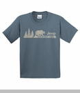 """Jeep """"Live without limits / Bear & Pines"""" Youth Tee, Blue"""