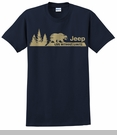 Jeep Live without Limits (Bear/Trees) Men's Blue Tee
