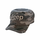 Jeep Logo Embroidered Cadet Hat in Green Camo