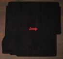 Jeep� Logo Rear Cargo Mat with for 2007-2010 Jeep� Wrangler Unlimited JK W/Subwoofer, by Lloyd Mats