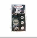 Jeep Logoed Valve Stem Caps Gift Set (with Key Fob Wrench)