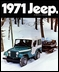 Jeep Magnets, 1971 AMC Jeep CJ5 w/Snowmobiles Ad