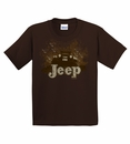 "Jeep ""Mud Flying Jeep"" YOUTH Brown Tee Shirt"