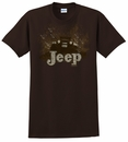 "Jeep ""Mudbogging Jeep"" Men's Brown Tee Shirt"