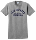 """Jeep Off-Road Adventures"" Gray Short Sleeve Shirt"